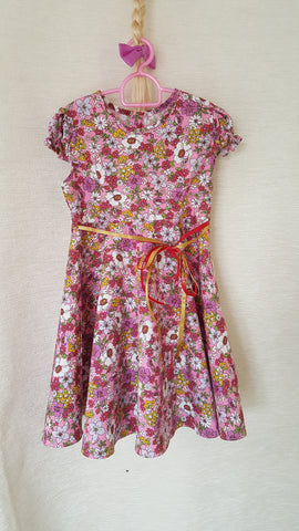 6b Vintage style Girls Floral summer party holiday dress from age 1 to 8