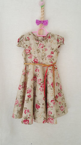 6J Vintage style Girls Floral summer party holiday dress from age 1 to 8