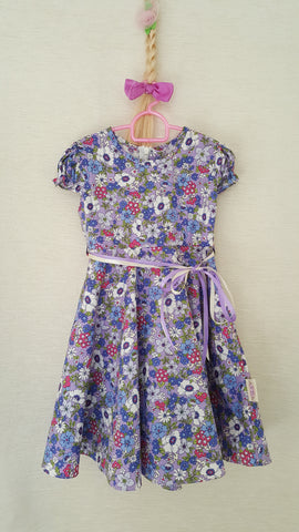 6E Vintage style Girls Floral summer party holiday dress from age 1 to 8