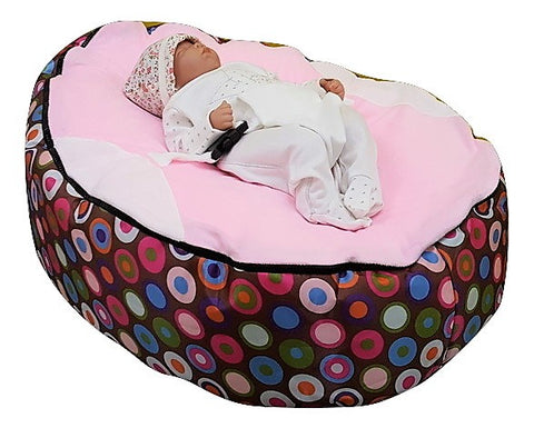 Polka Dot Series - Rainbow Light Pink Baby Bean Bag