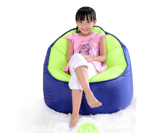 Top Quality Children Bean Bag Kids Bean Bag with Filling-Dark Blue - Mama Baba                                                                     Baby Bean Bag World                   - 1