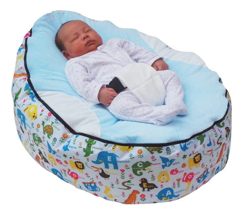 Animal Series - Safari Blue Baby Bean Bag - Mama Baba                                                                     Baby Bean Bag World                   - 1