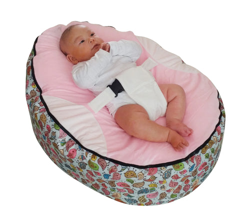 Animal Series - Pink Birdie baby bean bag - Mama Baba                                                                     Baby Bean Bag World                   - 1