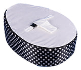 Polka Dot Series - Spotty Black & White Baby bean bag - Mama Baba                                                                     Baby Bean Bag World                   - 2