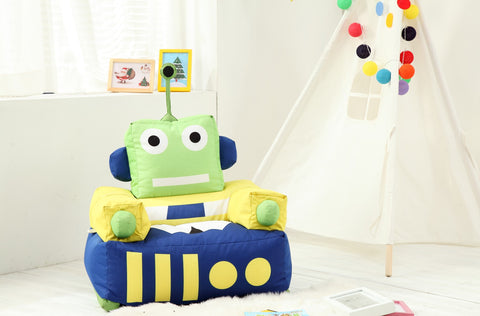 Top Quality Robot Children Bean Bag Kids Bean Bag with Filling-Robot