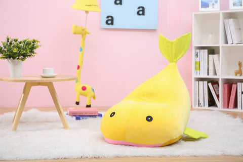 Whale Children Bean Bag Kids Bean bag with Filling - Yellow
