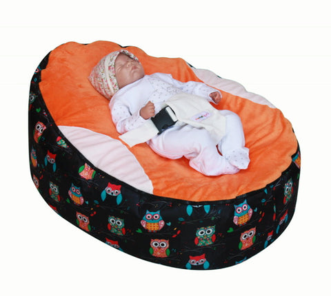 Owls Series - Owls Orange Baby Bean Bag
