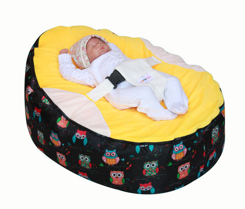 Owls Series - Owls Yellow Baby bean bag