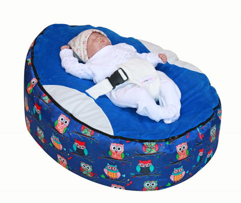 Owls Series - Owls Blue Baby Bean Bag