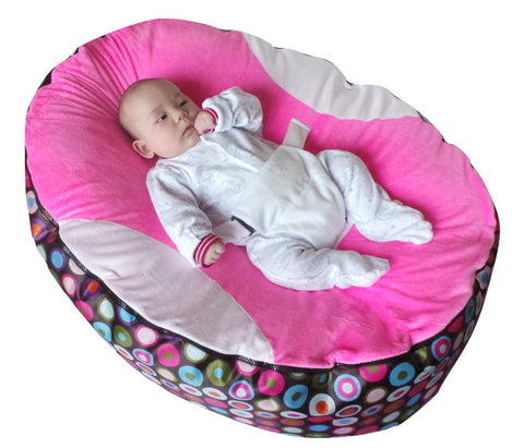Extra Large Series - Spotty Pink Baby Bean Bag - Mama Baba                                                                     Baby Bean Bag World