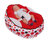 Spotty Series - Red Circle Baby Bean Bag - Mama Baba                                                                     Baby Bean Bag World                   - 1
