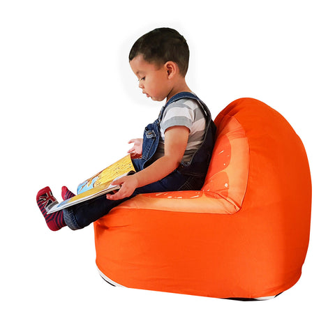 Orange Children Bean Bag Kids Bean Bag with Filling …