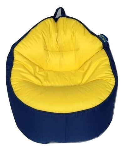 Top Quality Children Bean Bag Kids Bean Bag with Filling-Blue+Yellow