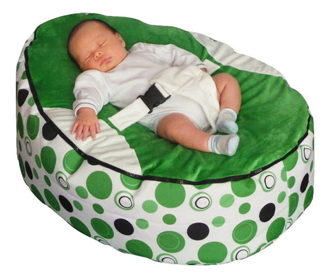 Groovy Spotty Series Green Circle Baby Bean Bag Bralicious Painted Fabric Chair Ideas Braliciousco