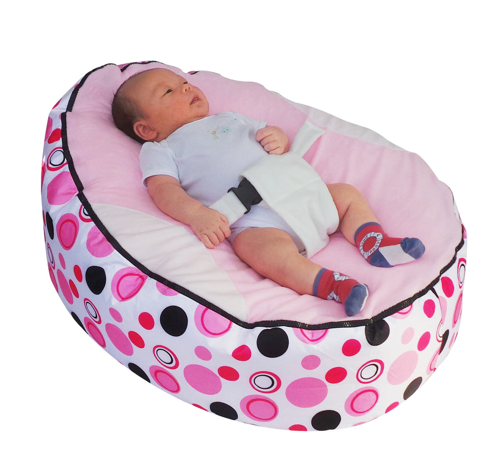 Beautiful Spotty Series   Light Pink Circle Baby Bean Bag
