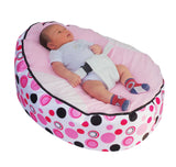Spotty Series - Light Pink Circle Baby Bean Bag - Mama Baba                                                                     Baby Bean Bag World                   - 1