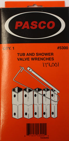 Tub and Shower Socket Wrench Set - Plumbing Parts Pro