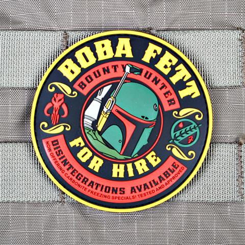 BOBA FETT FOR HIRE MORALE PATCH - Always Outnumbered Morale Patches