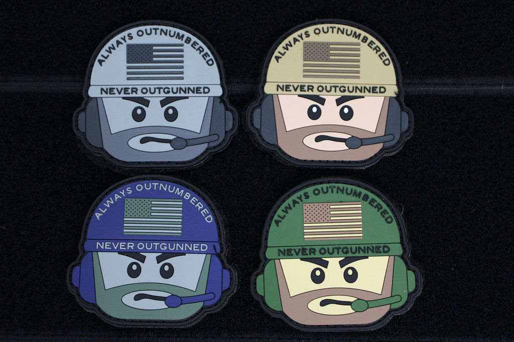 AONO Operator Head 4 Pack - Always Outnumbered Morale Patches
