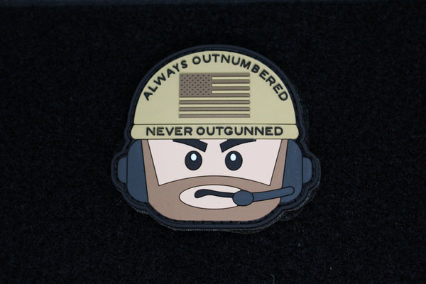 AONO Operator Head Morale Patch (Tan) - Always Outnumbered Morale Patches