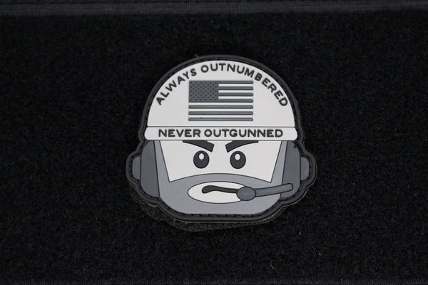 AONO Operator Head Morale Patch (SWAT) - Always Outnumbered Morale Patches