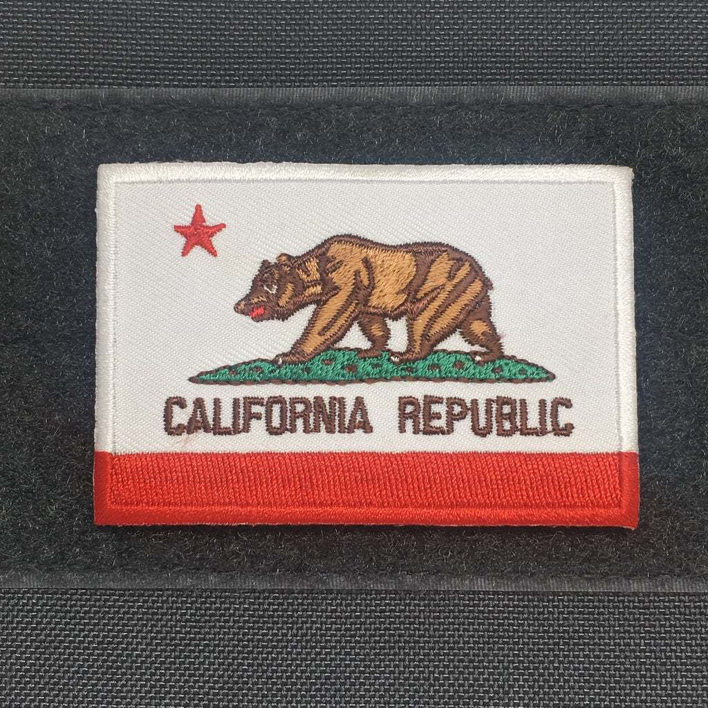 California Flag Patch - Always Outnumbered Morale Patches