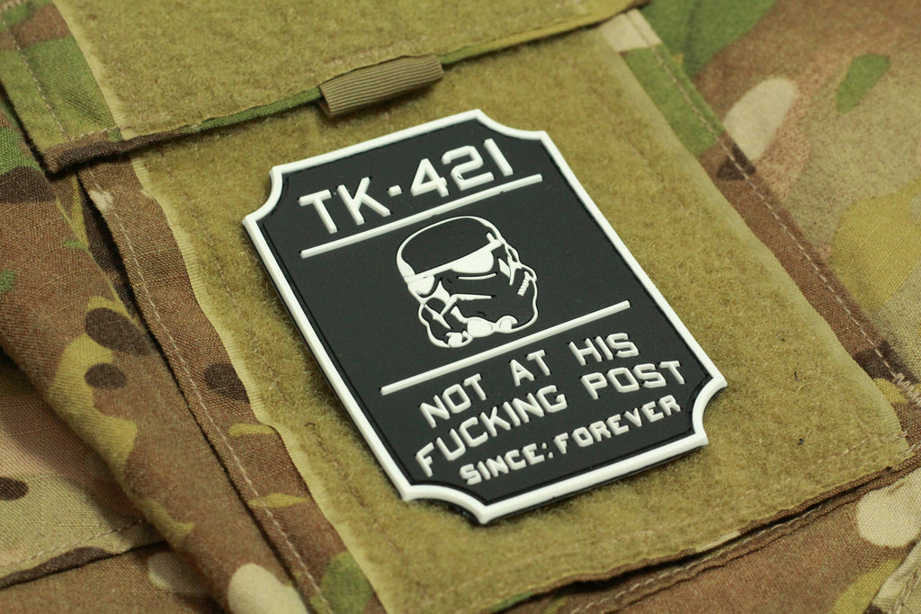 TK-421 Morale Patch (Black/GLOW) - Always Outnumbered Morale Patches