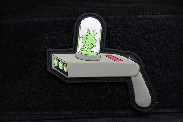 PORTAL GUN 3D GITD PVC MORALE PATCH - Always Outnumbered Morale Patches