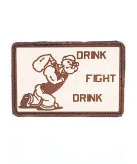 Drink Fight Drink Navy Patch - Always Outnumbered Morale Patches