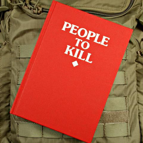 People To Kill Notebook (RED) - Always Outnumbered Morale Patches