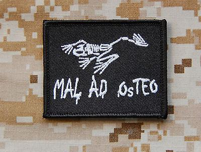 MAL AD OSTEO MORALE PATCH - BLACK - Always Outnumbered Morale Patches
