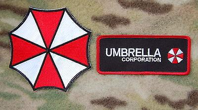 RESIDENT EVIL UMBRELLA CORPORATION VELCRO 2 PATCH SET