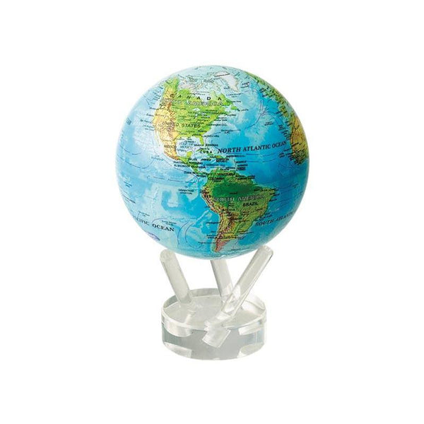 Blue with Relief Map Gloss Finish MOVA® Globe