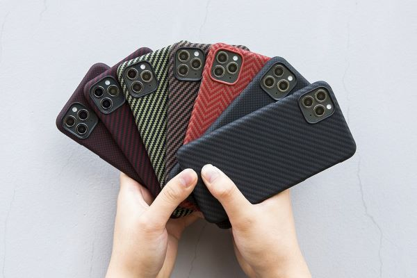 everyday carry item smartphone with colorful phone cases