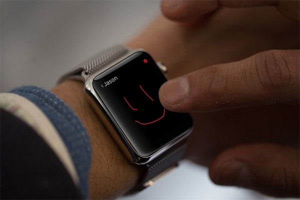Send digital touch messages through Apple Watch