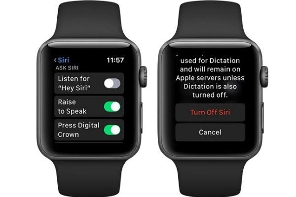 turn off hey siri to save Apple Watch battery life
