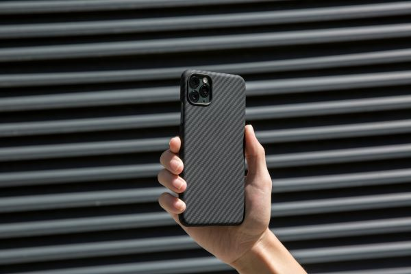 The classic black and grey, slim, magnetic iPhone case