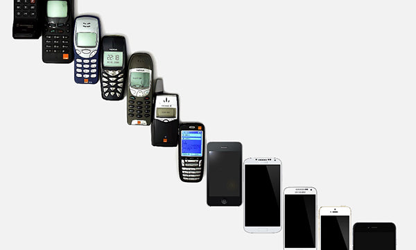 the history of cell phones and phone cases