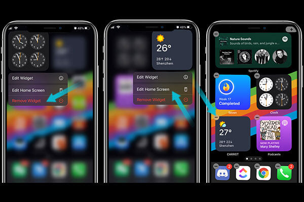 Remove widgets to stop your iphone battery draining fast