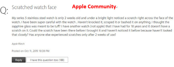 Apple Watch scratches easily Apple community