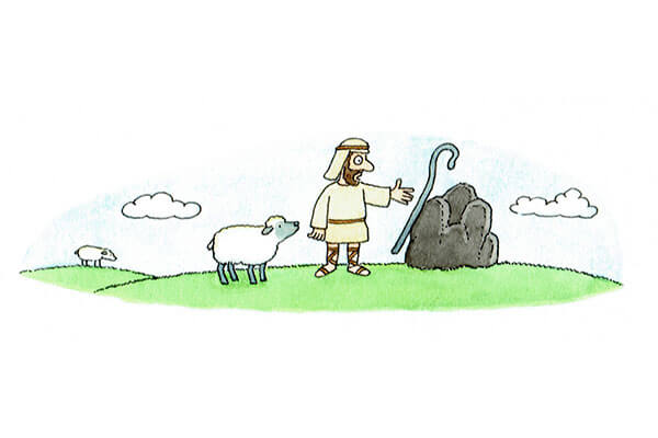 Magnas the shepherd finds rock with magnetite