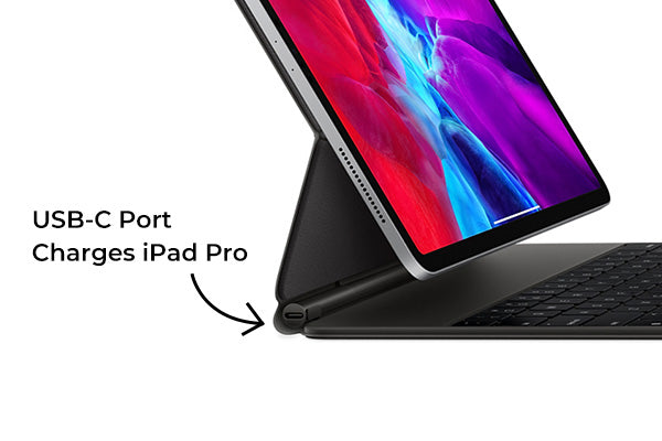 USB-C port on the iPad Pro 2020 magic keyboard supports pass-through charging