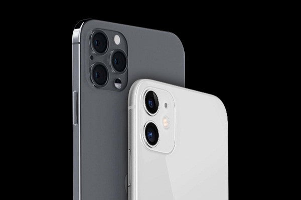 round-edged iPhone 11 and flat-edged iPhone 12
