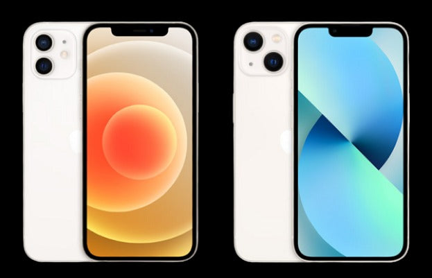 iPhone 12 and iPhone 13 notch comparison