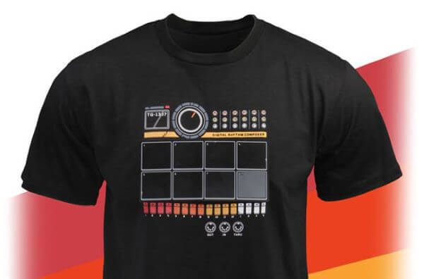 Electronic drum T-shirt, example of modern wearable technology