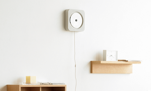 Design philosophy behind the MUJI wall-mounted CD player by Naoto Fukasawa