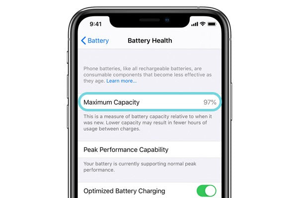 80% iPhone battery capacity is the threshold of iPhone battery health