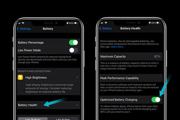 Optimized battery charging to stop your iphone battery from draining fast