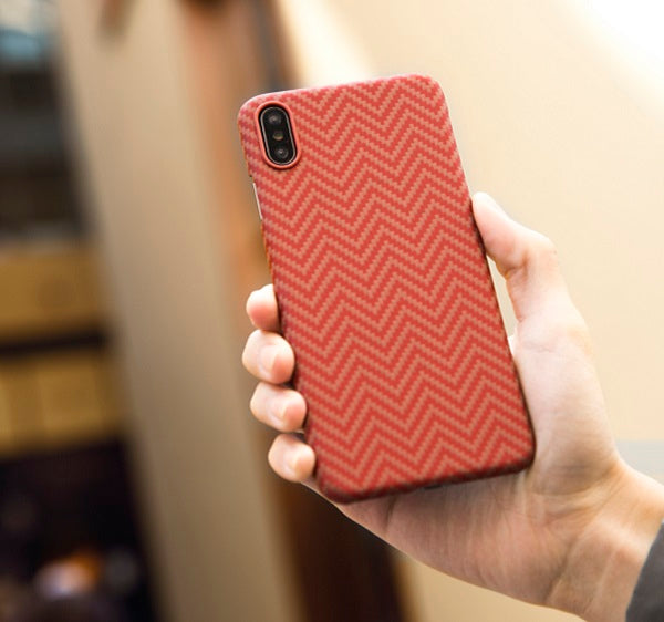 The black and red minimal slim iPhone Xs