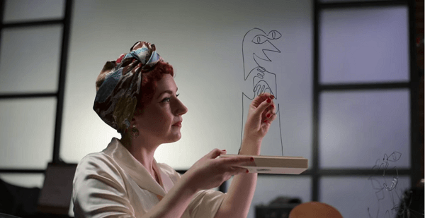 Deanna Marsigliese, Character Art Director at Pixar, created a character from iron wire